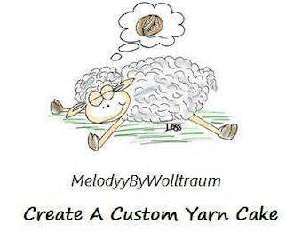 Custom Yarn - Customized Yarn - Custom Color Yarn - Personalized Yarn - Yarn Cake - Cotton Yarn - Acrylic Yarn - Wolltraum Yarn - Yarn Gift