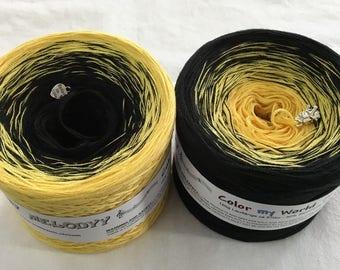 Black Raspberry White Yarn Black Yarn Ying /& Yang 1 Fingering Yarn -4Ply Wolltraum Yarn Cotton Yarn Acrylic Yarn Painted Yarn