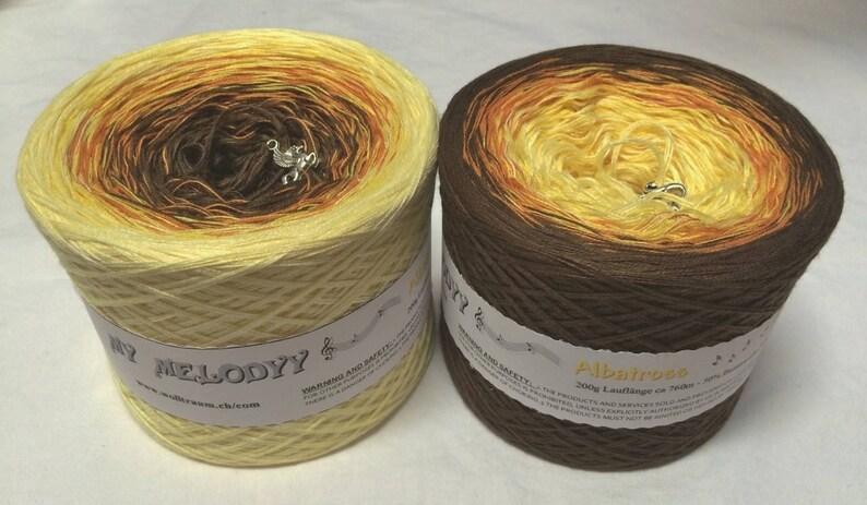 Yellow Acrylic Yarn Yarn Albatross Yellow Gradient Yarn Brown Acrylic Yarn Brown Cotton Yarn Yellow Cotton Yarn Wolltraum Yarn