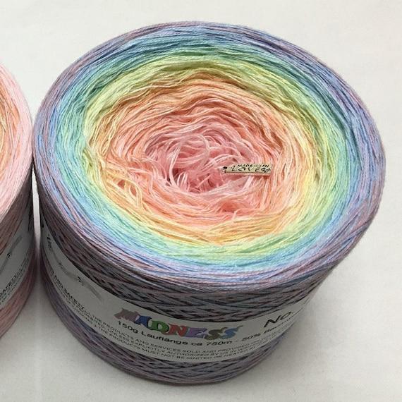 Cotton Yarn Gradient Yarn Madness 8 Collection Variegated Yarn Lace Weight Yarn Acrylic Yarn Crazy Yarn Wolltraum Yarn 3 Ply