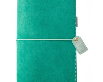Websters Pages Aspen Green Suede Standard size Travelers Notebook