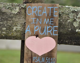 Psalm Scripture Vertical wood sign