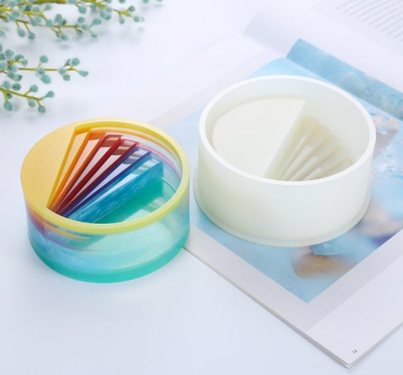 DIY Round Staircase Silicone Mold-UV Epoxy Resin Mold -resin Decoration  Mold- Pen Holder Mold- Storage Box Mold- Flower Pot Mold-Stair mould