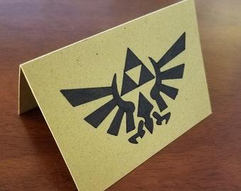Zelda Triforce Folded Card