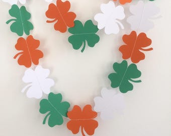 St Patricks Day Garland, Shamrock Garland, St Patrick's Day celebrations, Parties