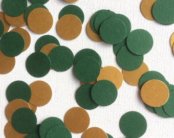 Green and Gold Confetti, Green and Gold Table Confetti, Green and Gold Table Decorations, Green and Gold Party Decorations, St Patricks Day