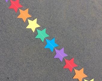 Rainbow Garland, Rainbow Star Graland, Rainbow Party Decxorations, Rainbow Baby Shower