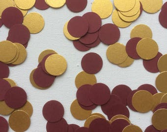 Burgundy and Gold Confetti, Burgundy and Gold Table Confetti, Burgundy and Gold Table Decorations, Burgundy and Gold Shimmer Table Confetti