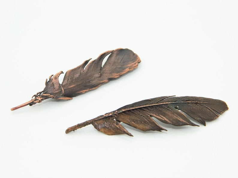 Feather brooch for women gift for journalist gift for image 0