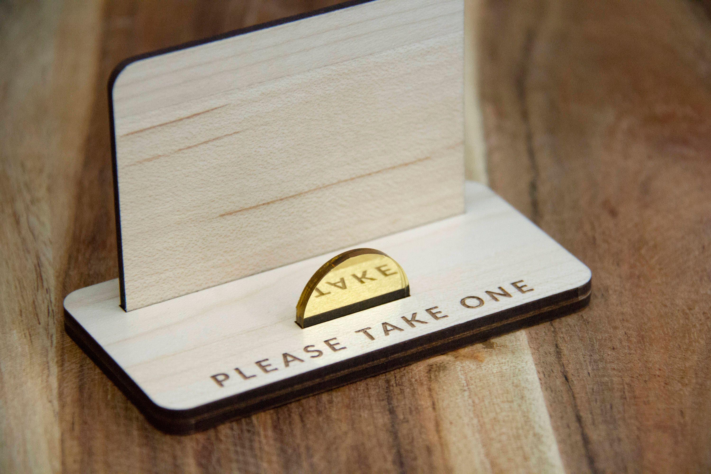business card holder laser cut business card holder  etsy