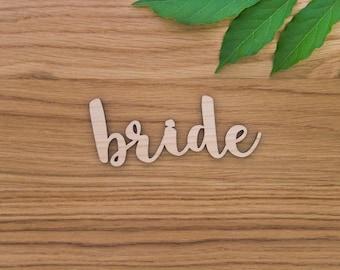 Wooden Bride Name Sign - Wedding Table Setting - Custom Lasercut Name - Wedding Decor - Wood