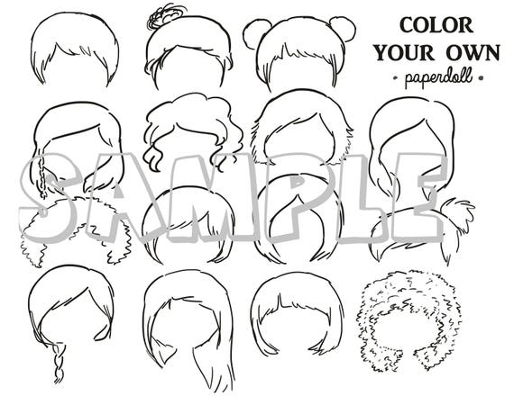 DIGITAL FILE Color Your Own Hair | Etsy