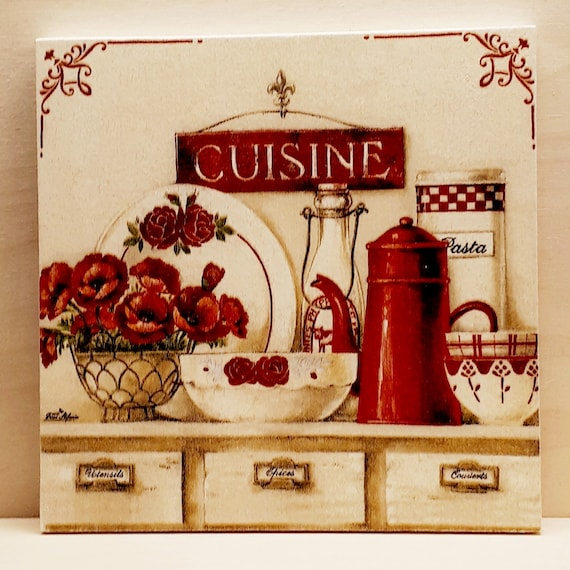 French Advertising Kitchen Sign Cuisine Fruit