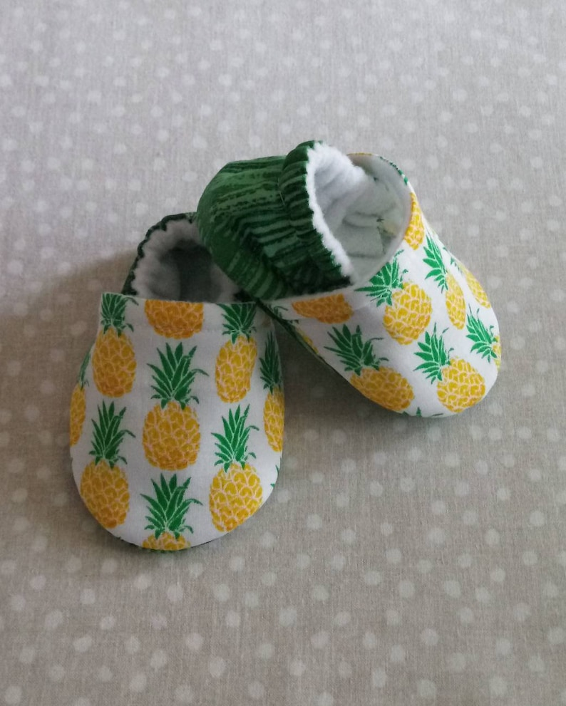 Pineapple baby shoes Made to order item