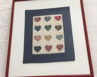 Quilted heart picture