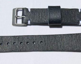 Custom Horween Leather Watch Strap 20mm