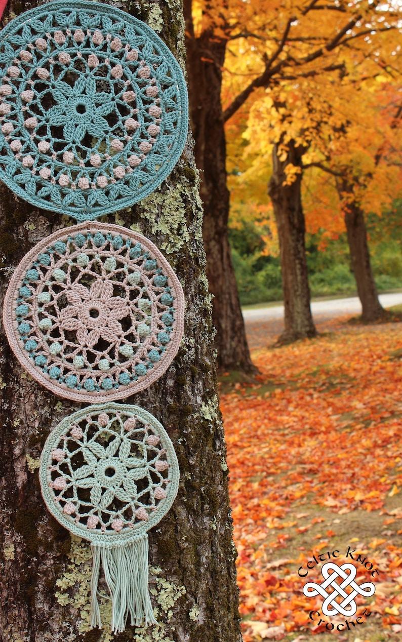 Mandala Crochet Mandala Mandala Wall Hanging Crochet image 1