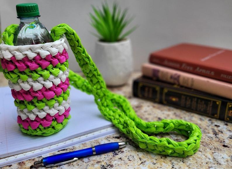 Water Bottle Cozy Crochet Cozy Plarn Cozy Plarn Crochet image 0