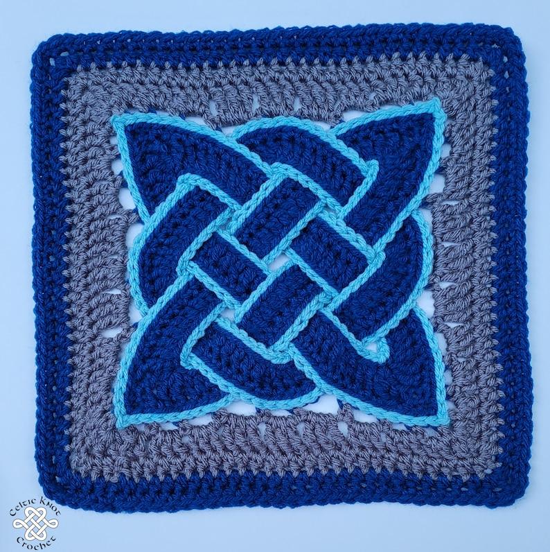Crochet Square Celtic Knot Celtic Knot Square Crochet image 0