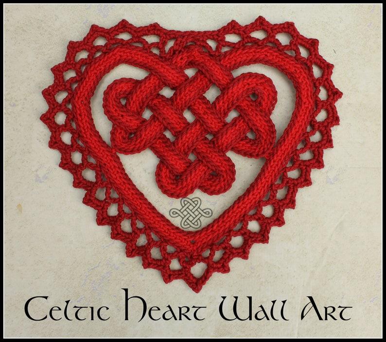 Celtic Heart Wall Art  Crochet pattern for Celtic decoration image 0