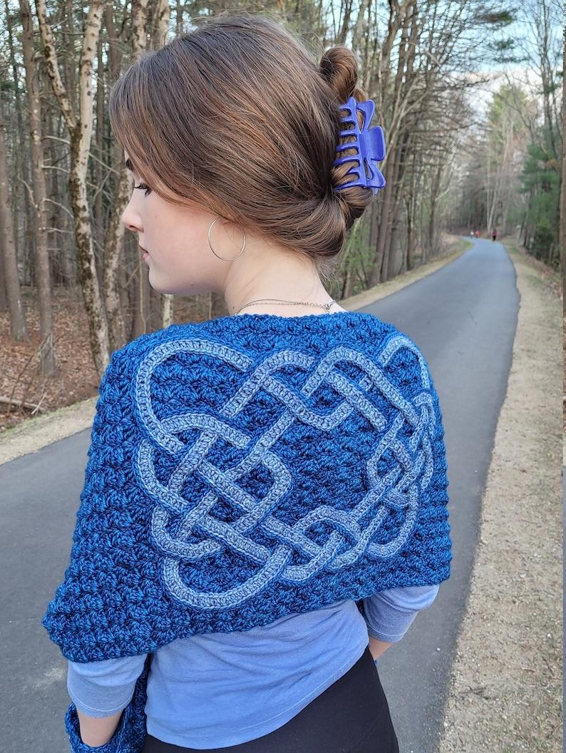 Pocket Shawl Celtic Pocket Shawl Celtic Crochet Crochet image 0