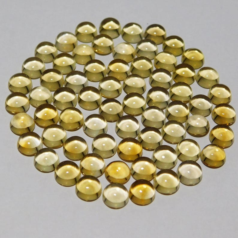 15 pieces lot natural citrine round shape cabochon calibrated loose gemstone