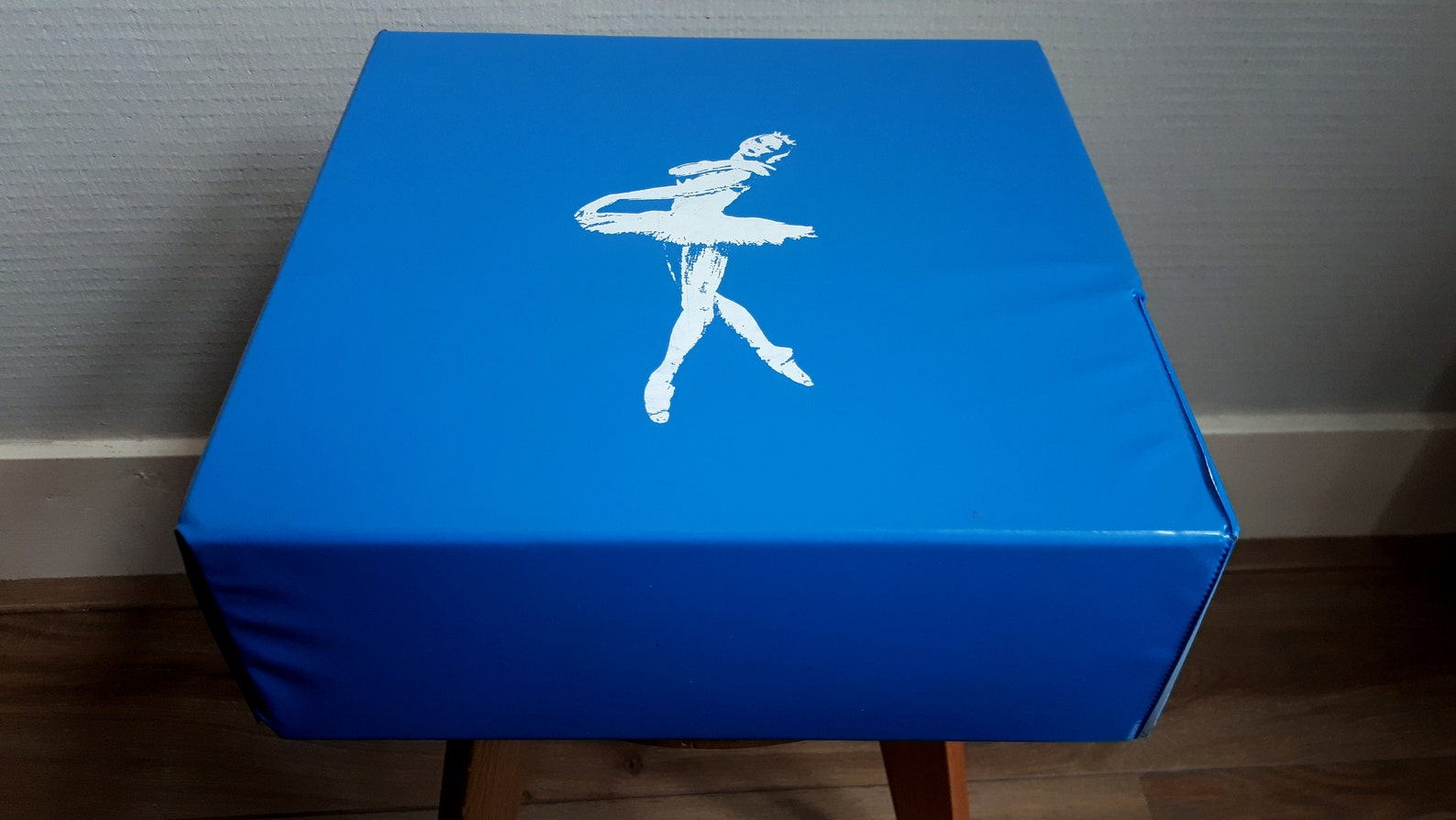 mattel ballet bag * vinyl * blue * shoulder bag * 1960 * ballet shoes box * dance * retro * vintage