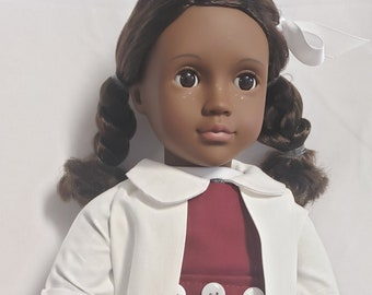 Doll clothes - Ruby Bridges doll clothes - HistoryWearz doll clothes - Black Doll - black doll clothes - Rockwell inspired painting item