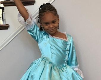 Eliza Hamilton dress for girls / Schuyler Sisters Hamilton / HistoryWearz™ Costume / Eliza Schuyler dress / Eliza Hamilton Halloween Costume