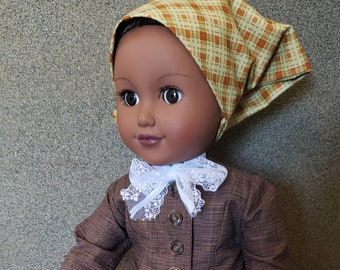 Doll clothes - Harriet Tubman doll clothes - HistoryWearz doll clothes - colonial doll clothes - black doll clothes