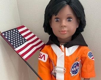 Dr Mae Jemison Doll / HistoryWearz Refurbised dolls / NASA Astronaut / Black doll / Historical doll / Astronaut Doll,