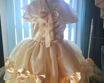 Belle Dress / Disney Princess Dress Beauty and the Beast Belle Costume / Yellow Dress / Ball gown for toddler, child, girl Princess Costume