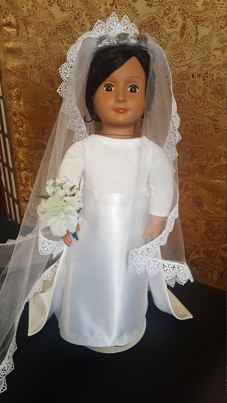 18 doll   Duchess of Sussex  Wedding Doll clothes  image 0