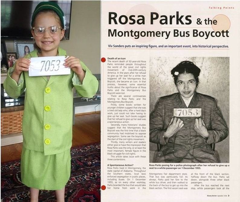 Rosa Parks   Montgomery Bus Boycott suit  HistoryWearz image 0