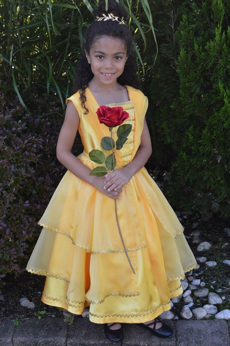 Girls Princess Belle Dress  Flower girl dress    Birthday image 0