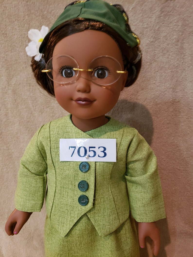 18 inch doll  Rosa Parks Doll   Historical doll  black doll image 0