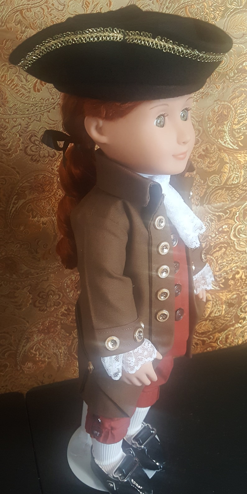 18 doll  Thomas Jefferson  colonial doll  founding image 0
