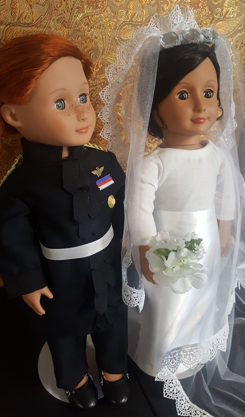 18 doll pair Duke and Duchess of Sussex Prince Harry image 0