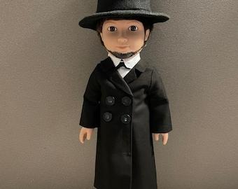 Abraham Lincoln doll / HistoryWearz™ refurbished dolls / Presidential doll / Historical Doll / American History doll