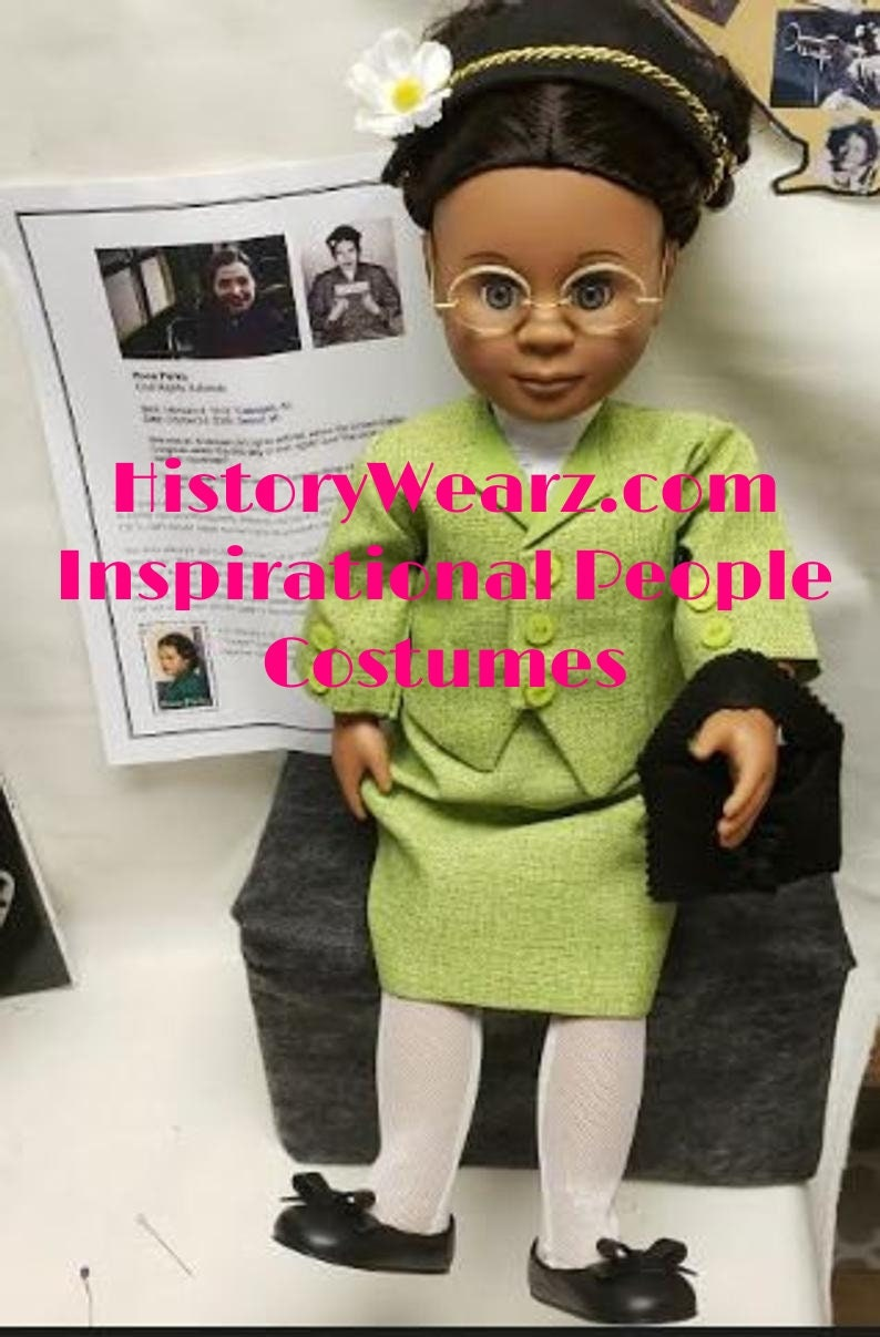 Rosa Parks doll  Montgomery Bus Boycott  HistoryWearz image 0