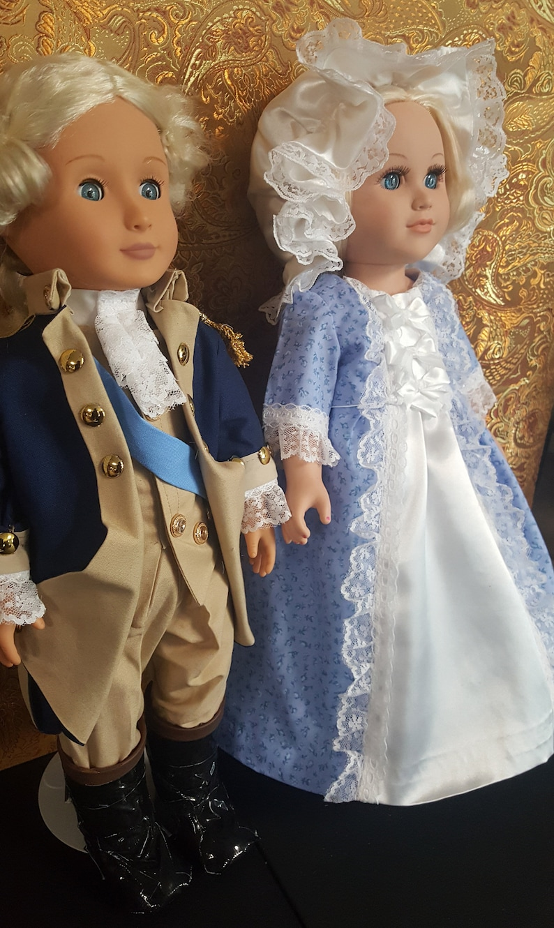 18 doll pair  George and Martha Washington  First image 0