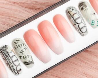 Acrylic nails | Etsy