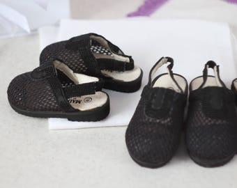 Vintage Girls black Sandals size 18 19 Kids Shoes Cute tiny 12cm unused age 1 1,5 years children's sandals for a photoshoot
