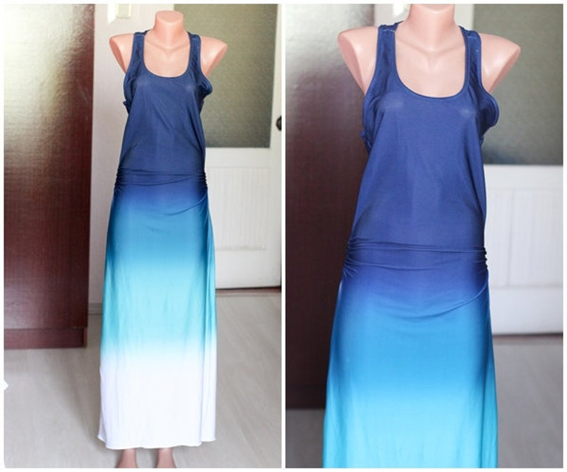 1ad9f8dbe546 90 s vintage womens ombre dress summer dress S 36 38