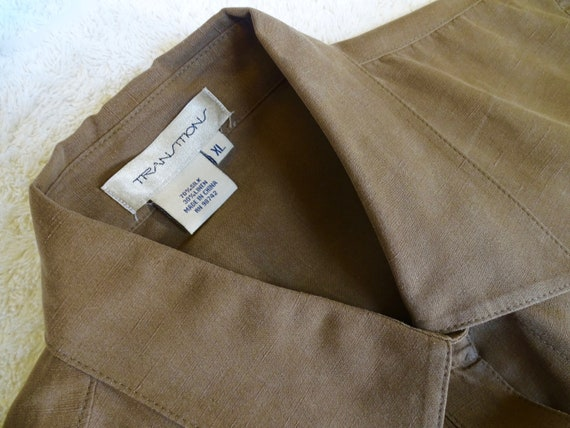 TRANSITIONS Silk & Linen Blouse XL - image 5