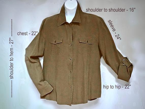 TRANSITIONS Silk & Linen Blouse XL - image 2