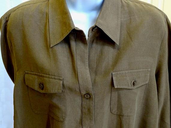 TRANSITIONS Silk & Linen Blouse XL - image 4