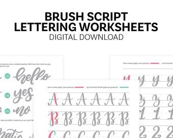 Brush Script Lettering Worksheets