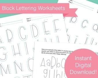 Block Lettering Worksheets