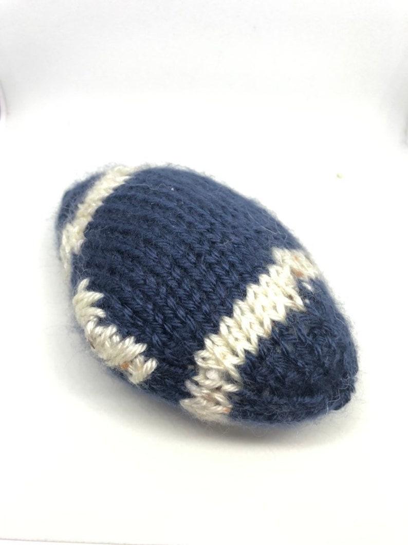 Handmade knit squeaky dog toys